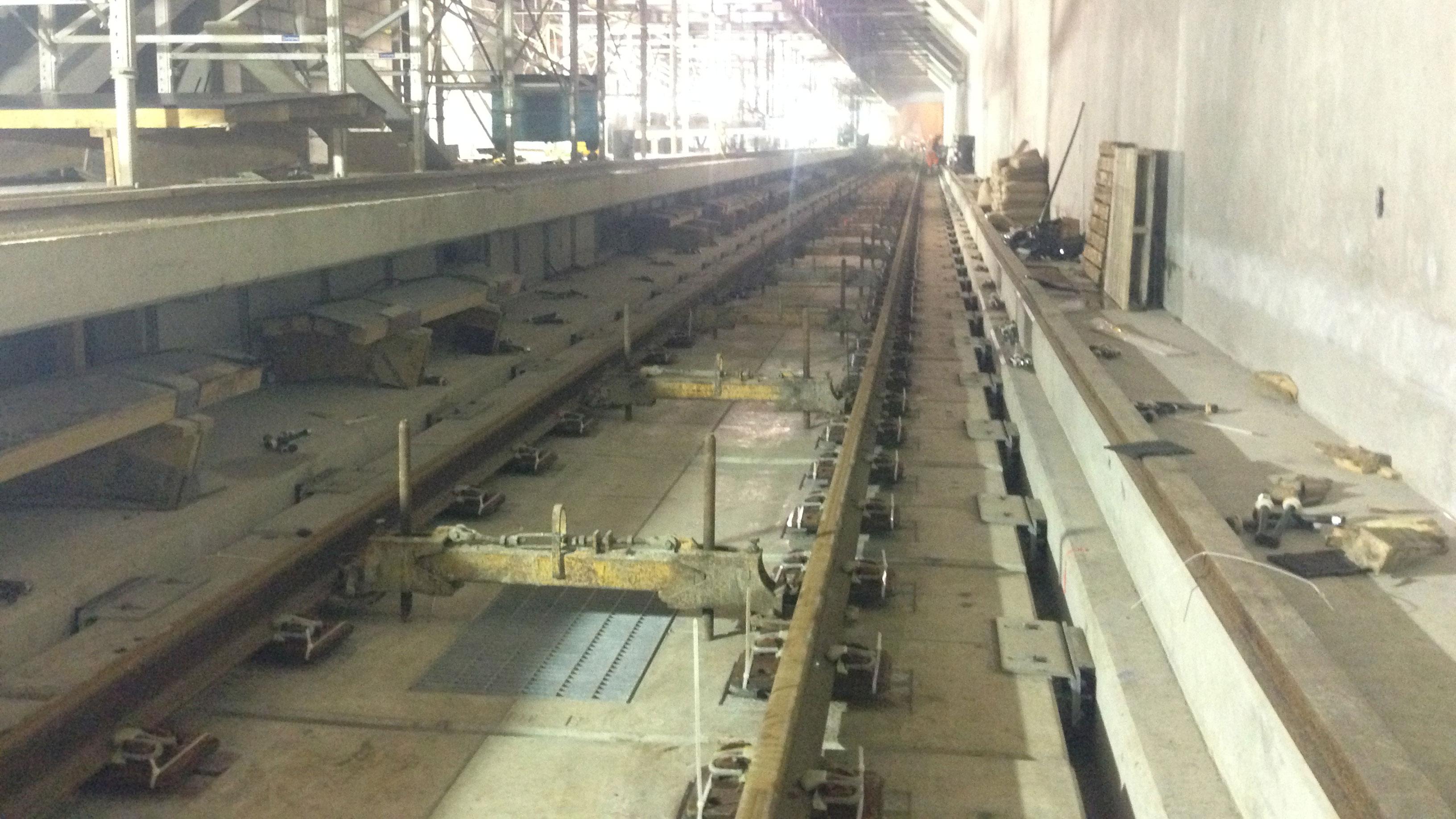 Construction on the Toronto-York Spadina subway extension on Jan. 15, 2016. CITYNEWS/Audra Brown.