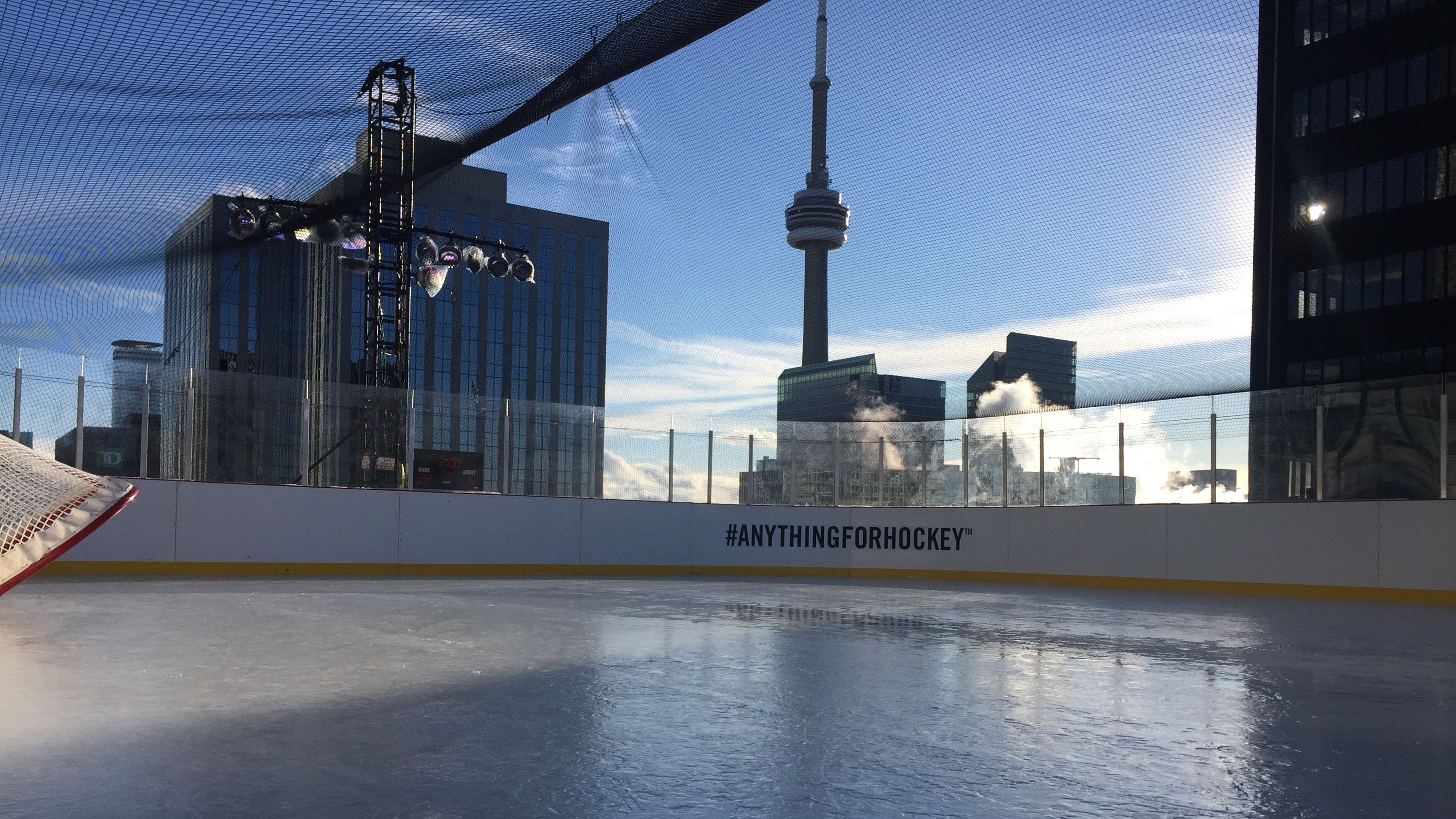 how to build a rink on top of a toronto skyscraper