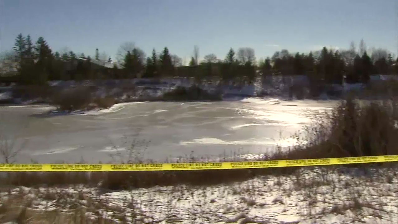 York police found a body in a Markham pond on Jan. 23, 2016. CITYNEWS.