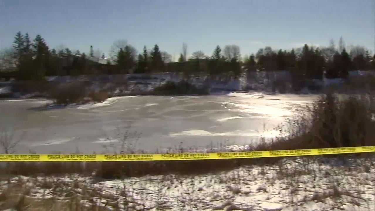 York police found a body in a Markham pond on Jan. 23, 2016. CITYNEWS.
