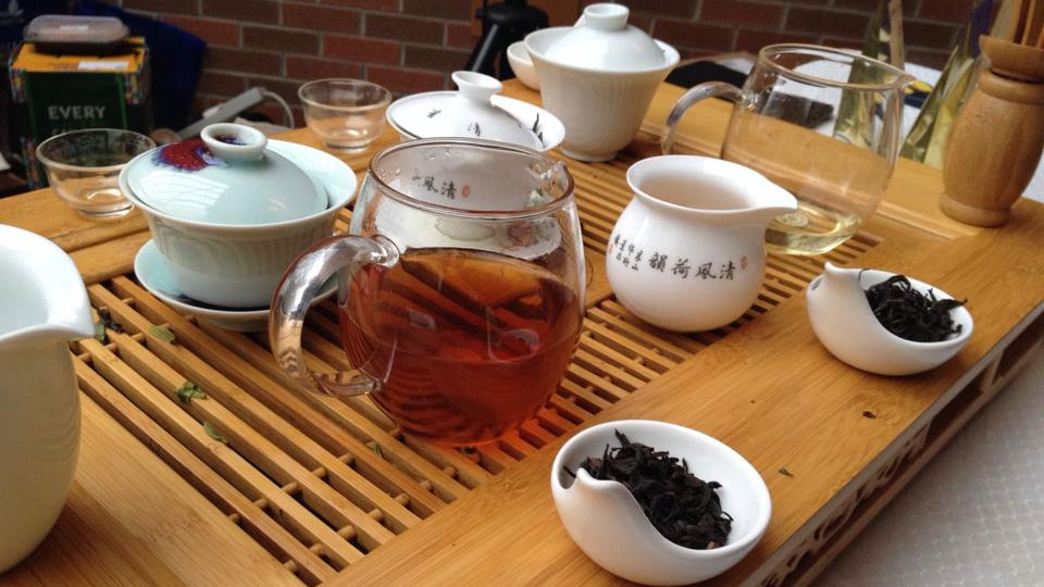 Chinese tea and tea leaves. Photo via Facebook/Toronto Tea Festival.