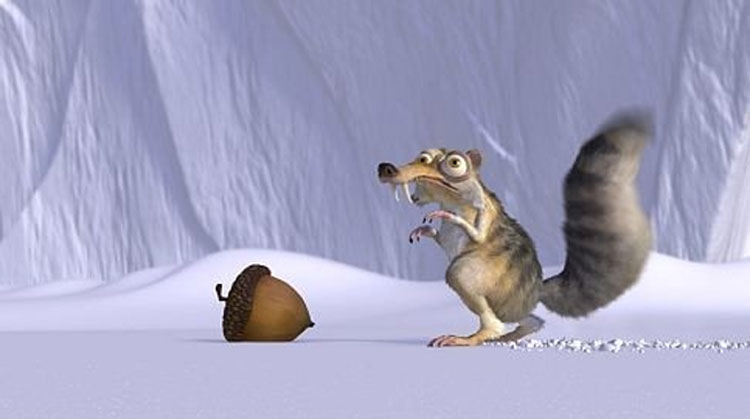A scene from the 2002 movie Ice Age. TWENTIETH CENTURY FOX.