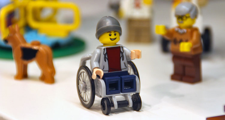 For the first time, Lego has introduced a figurine that uses a wheelchair. Image via Facebook/PromoBricks.