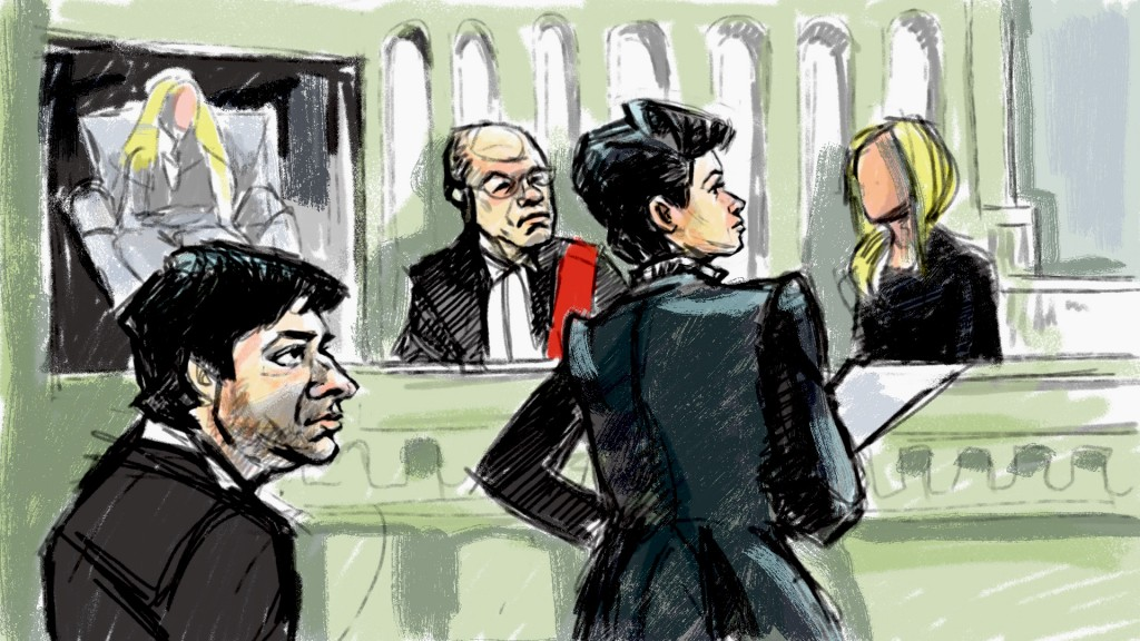 Jian Ghomeshi and his lawyer in court, day two of his trial, Feb. 2, 2016. MARIANNE BOUCHER/CITYNEWS