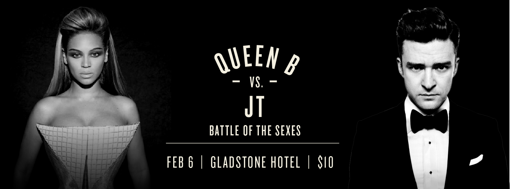 Beyonce vs. JT Photo via FACEBOOK