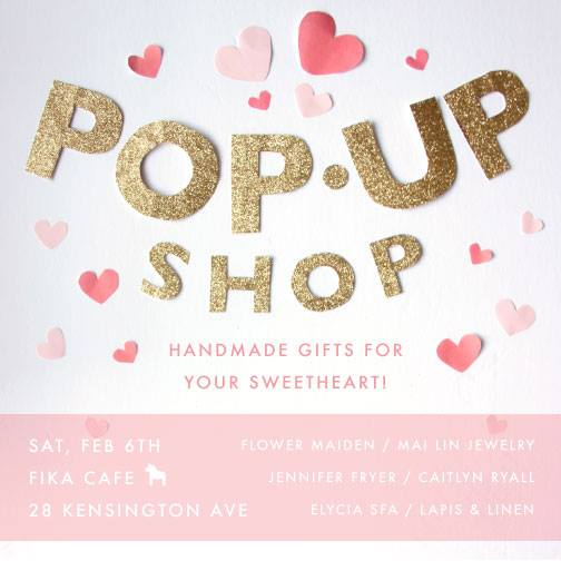 Valentine's popup shop at Fika Photo via FACEBOOK