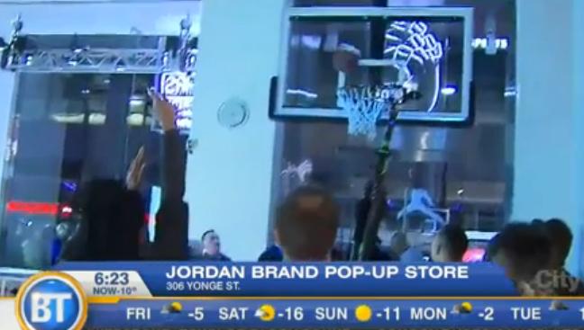 Video: Sneaker shopping spree starts at Jordan pop-up store
