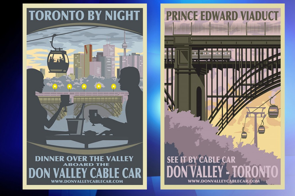 Images of the proposed urban gondola, Feb. 19, 2016. Image courtesy: Donvalleycablecar.com