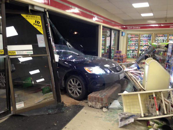 Etobicoke 7/11 more like a drive-thru after a crash