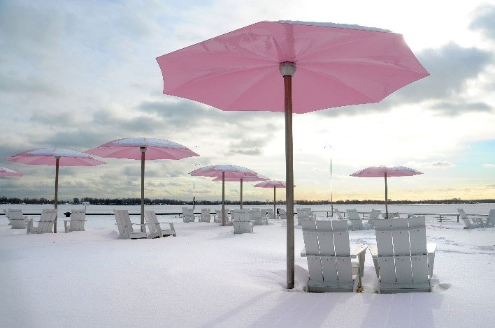Sugar Beach in Toronto. WATERFRONT TORONTO.