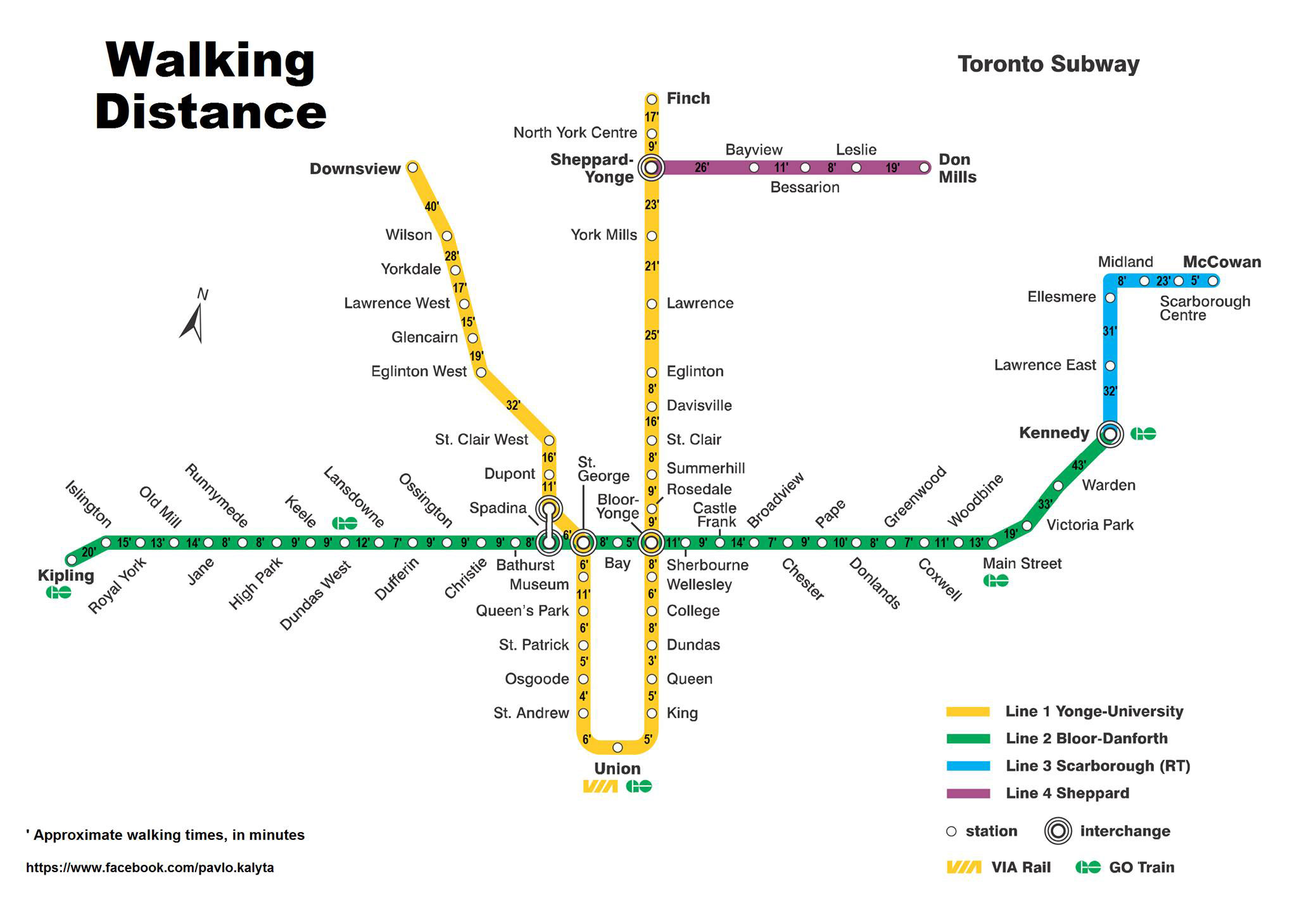 Toronto Subway Map App.An Answer To The Question Is It Better To Walk Or Take The Subway