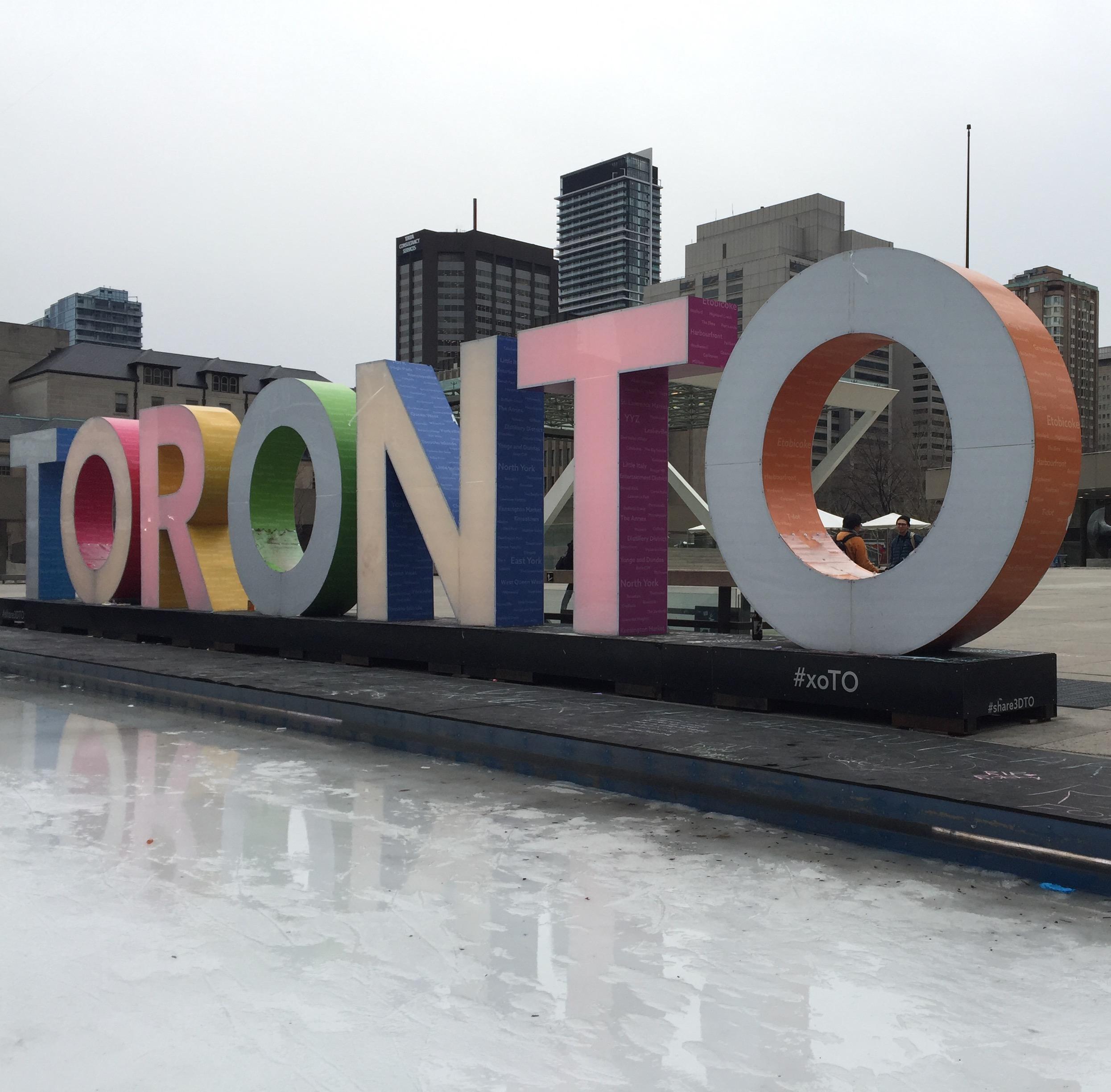 The Toronto sign at Nathan Phillips Square. CITYNEWS/Diana Pereira