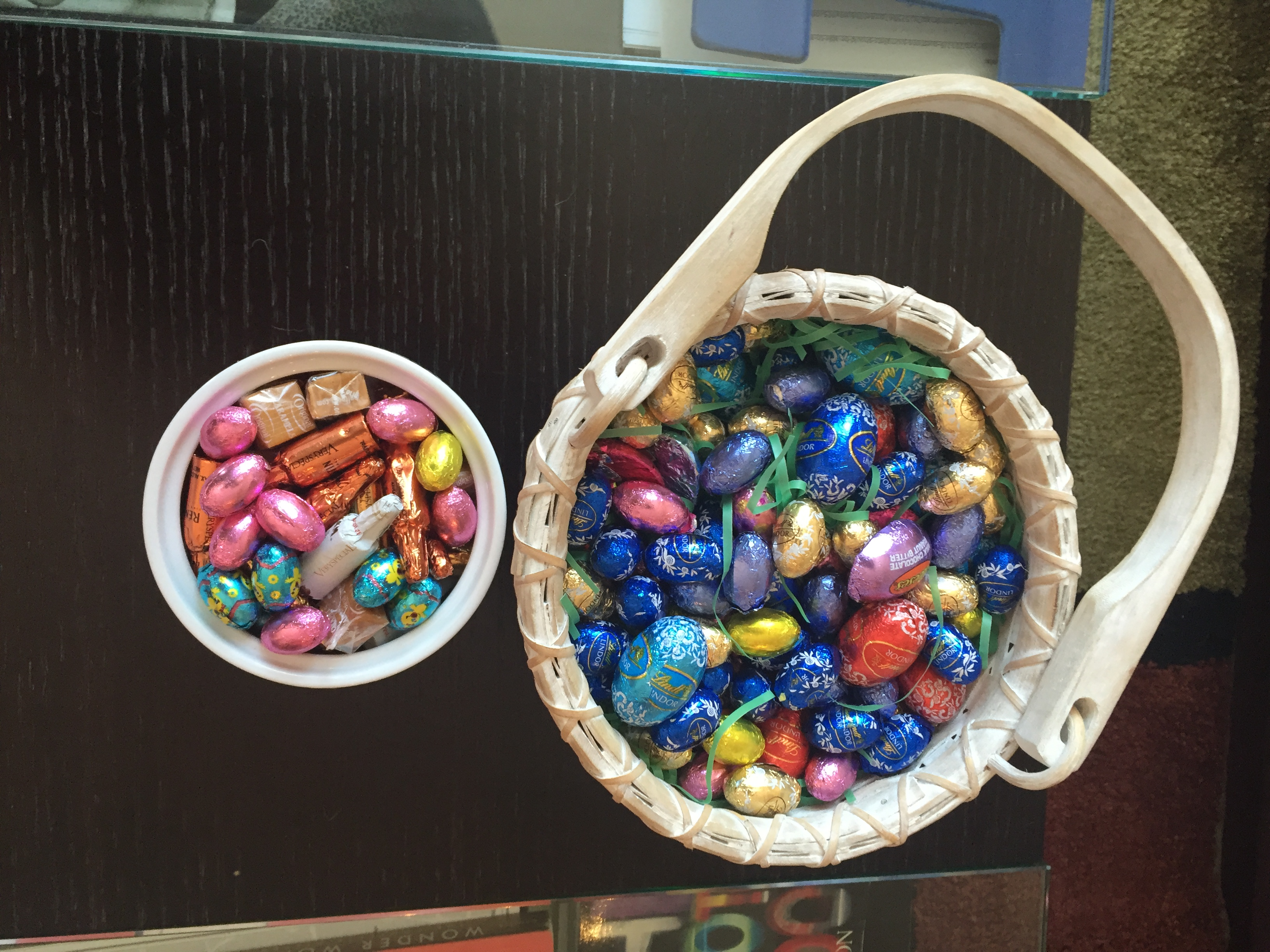 Two baskets of chocolate Easter eggs. CITYNEWS/Diana Pereira