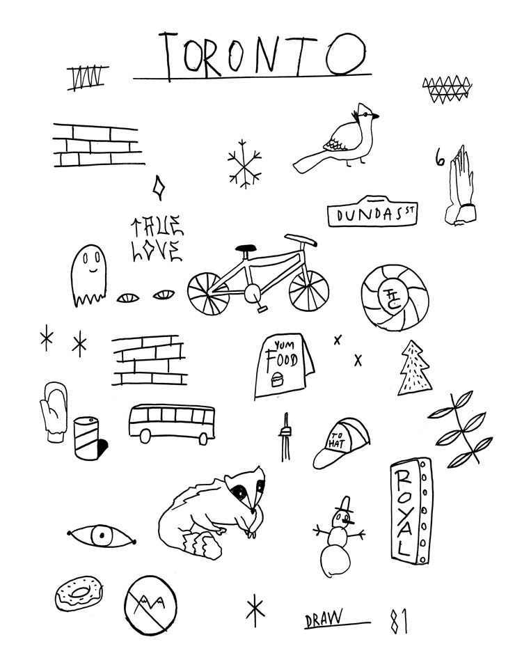 Welcome to Toronto colouring book: Favourite things in Toronto Artist: Justin Broadbent