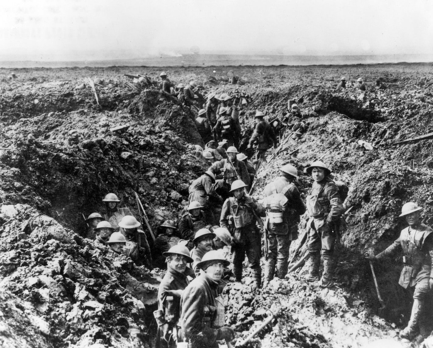Canadian soldiers man the trenches at Vimy Ridge in 1917 during the First World War. THE CANADIAN PRESS