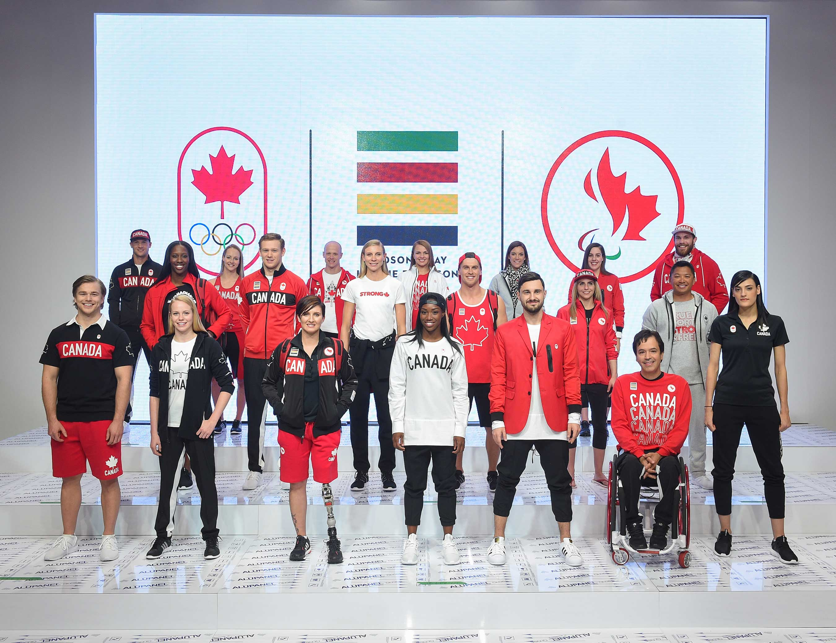 Hudson's Bay Company, the Canadian Olympic Committee, and the Canadian Paralympic Committee launch the Team Canada Collection for Rio 2016 on April 12, 2016. HUDSON'S BAY.