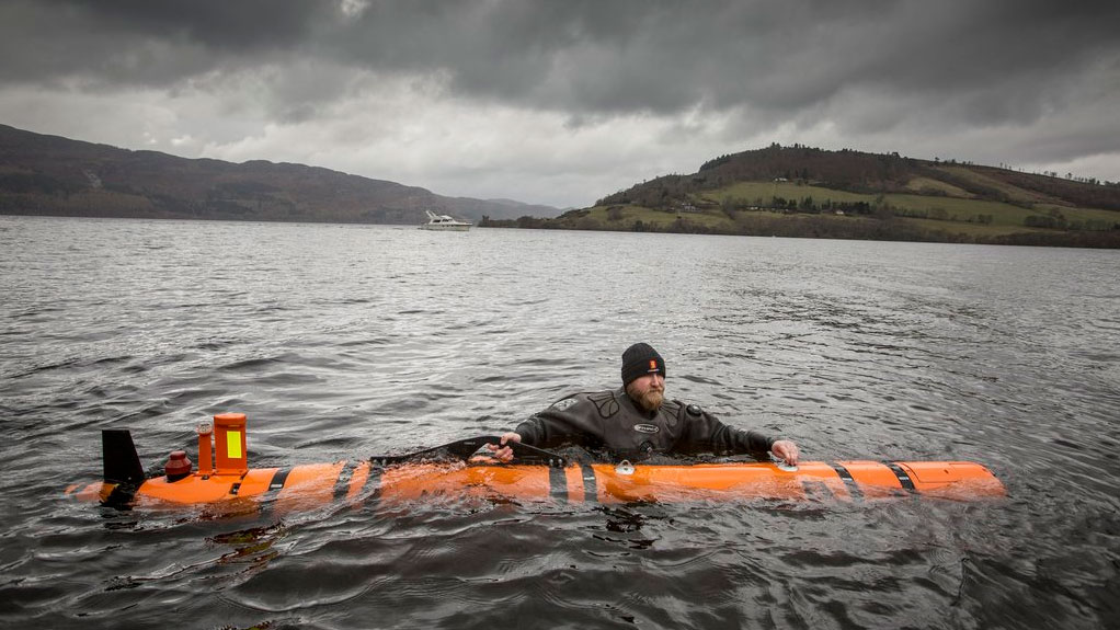 The underwater robot, operated by Norwegian company Kongsberg Maritime, discovered the movie prop in Loch Ness. Photo via Twitter/@VisitScotNews.