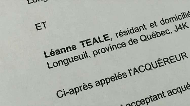 Document confirming Karla Homolka's name, Leanne Teale. PHOTO: Domenic Fazioli