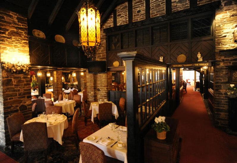 Dining room at the Old Mill Toronto. Photo via oldmilltoronto.com.