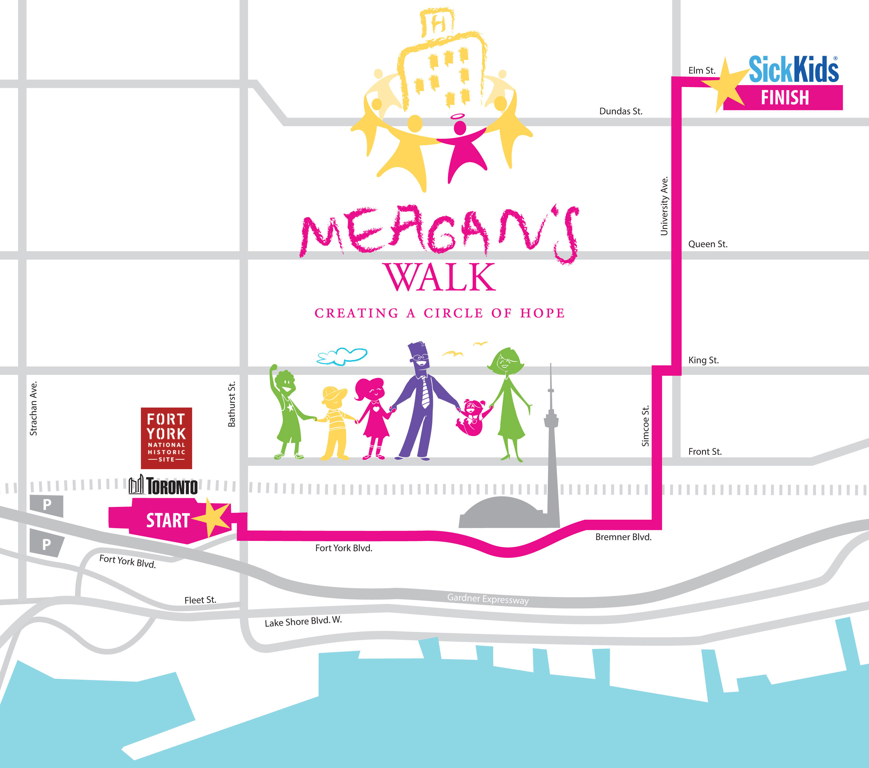 Route map for Meagan's Walk. Photo via meaganswalk.com.
