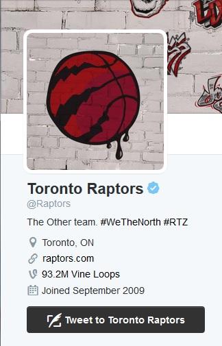 raptors twitter other team