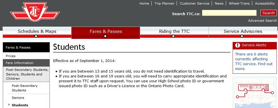 ttc policy