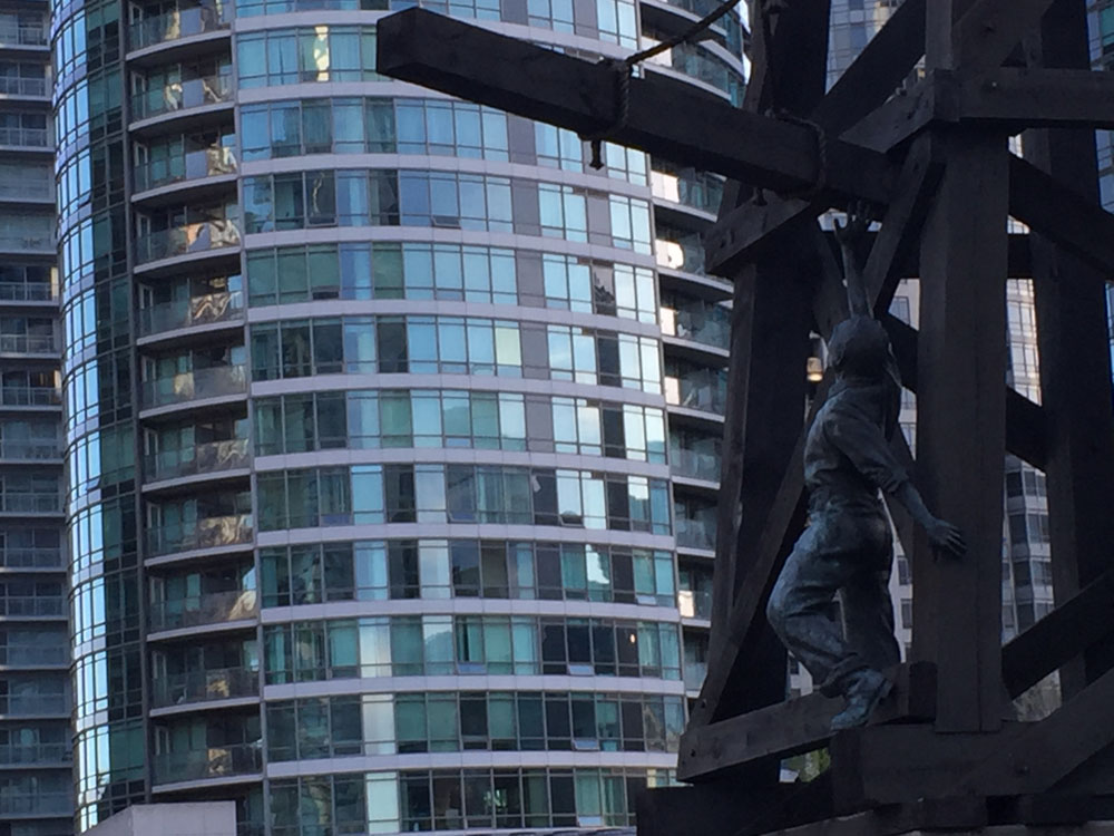 The Chinese Railroad Workers Monument in Toronto CITYNEWS/Diana Pereira