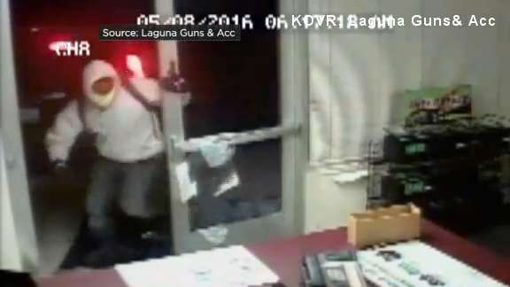 Video Security Camera Catches Thieves Breaking Into California Gun