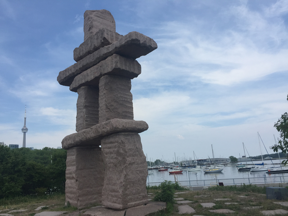 What Is That Toronto Inukshuk Touches Sky Towers Over Water