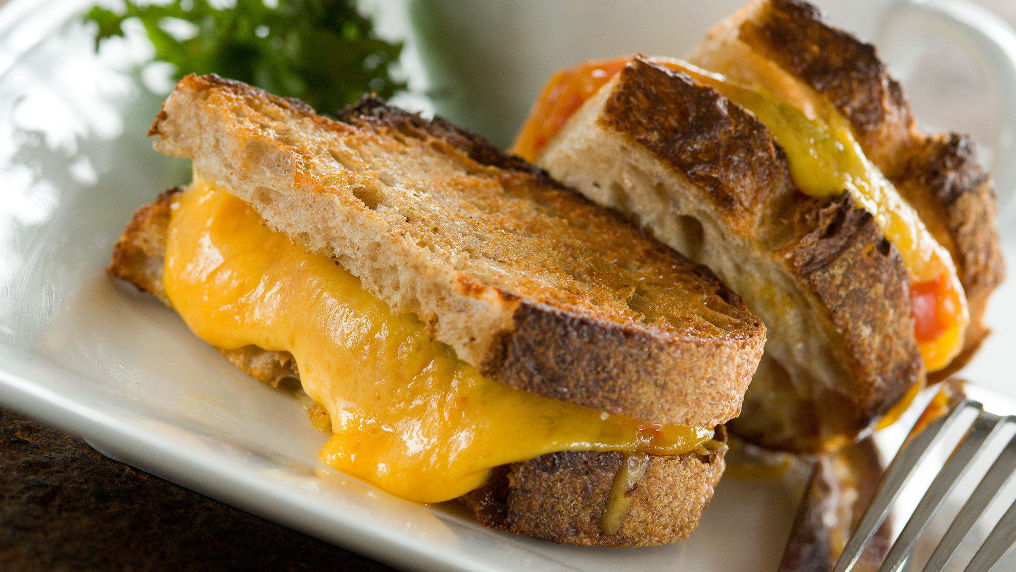 A grilled cheese sandwich. GETTY IMAGES