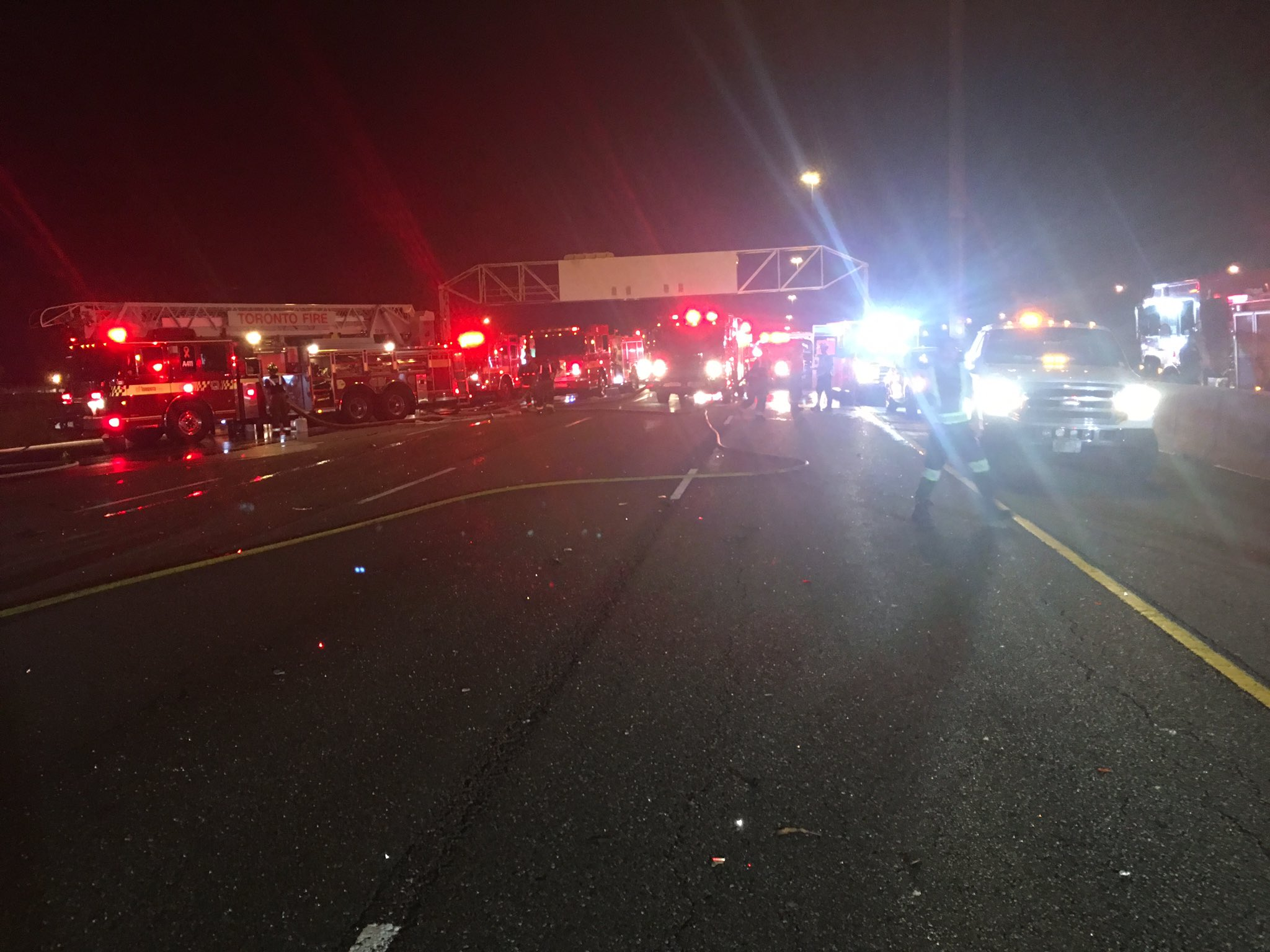 Four dead including one child in fiery crash on Hwy  400