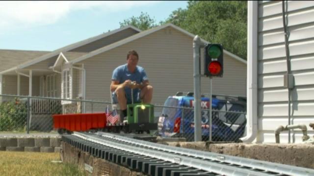 Backyard Train video: utah man spends $18,000 on fully functioning backyard train