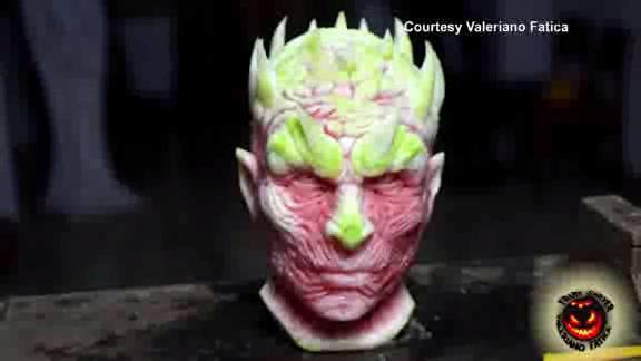 Video italian fruit carving artist creates game of thrones