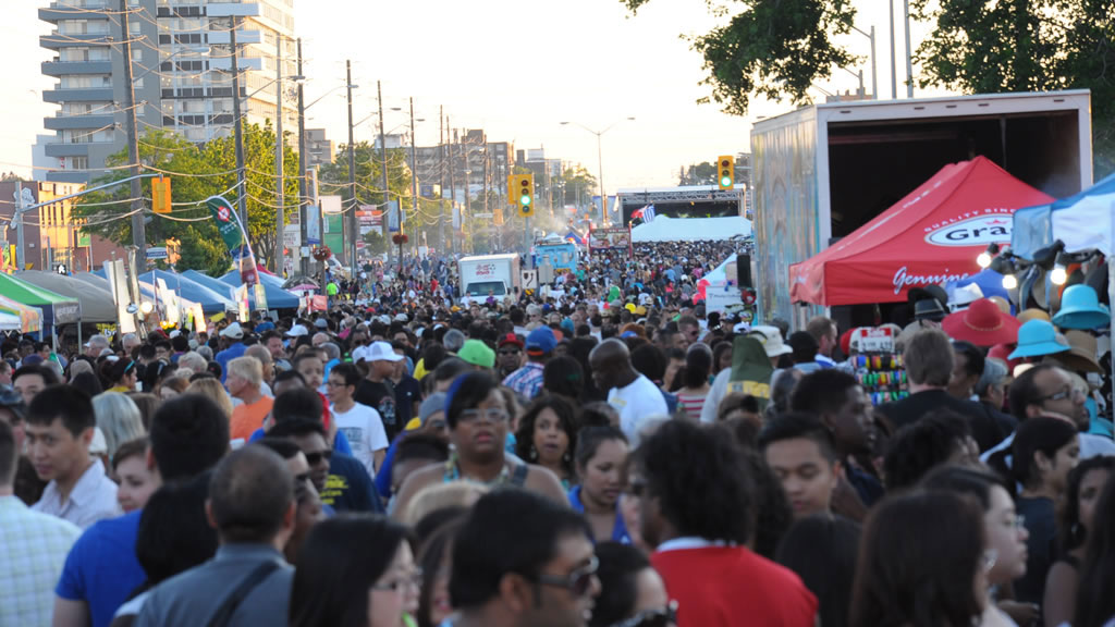 A packed Taste of Lawrence street festival in Toronto. Photo via Facebook/WexfordBIA