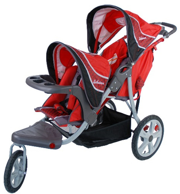 The Schwinn Grand Safari Tandem Jogging Stroller (04STAD12) is one of several models recalled by Health Canada.