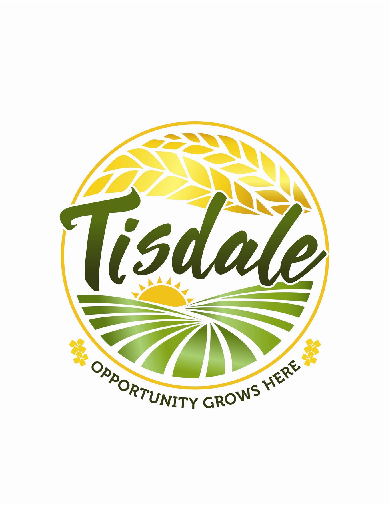 """The town of Tisdale in northern Saskatchewan is no longer using the slogan """"Land of Rape and Honey."""" The community has revealed a new logo (shown) with the catchphrase """"Opportunity Grows Here."""" THE CANADIAN PRESS/HO-Town of Tisdale MANDATORY CREDIT"""