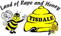 """The former Tisdale slogan - the """"Land of Rape and Honey"""" - is seen on the town website on Aug. 23, 2016. TOWNOFTISDALE.COM"""