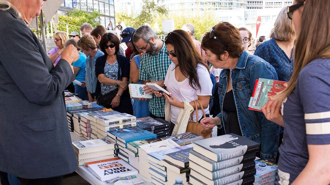 Book enthusiasts at the Word On The Street festival on Oct. 15, 2015. FACEBOOK/TorontoWOTS/Samantha Falco