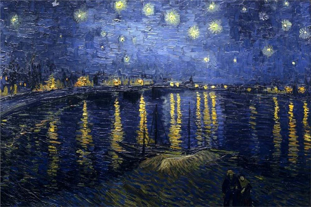 "Vincent van Gogh's ""The Starry Night over the Rhone at Arles"" from 1888. Photo via vangogh.net."