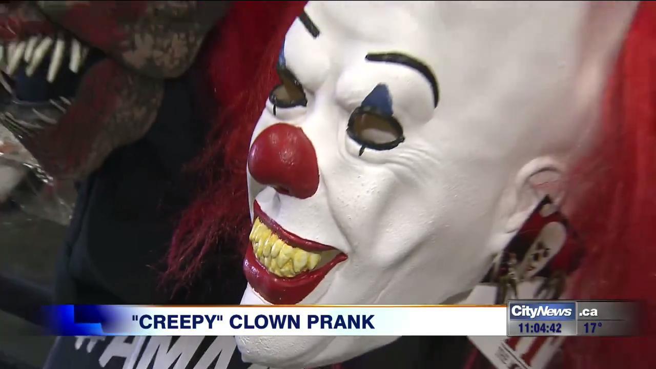 Video Creepy Clown Prank Lands In Toronto Video
