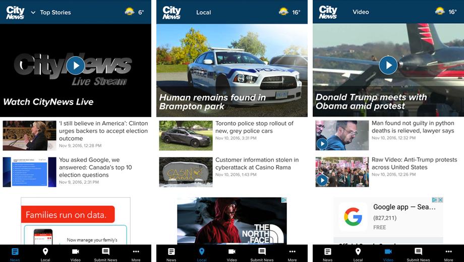 Mobile App - CityNews Toronto