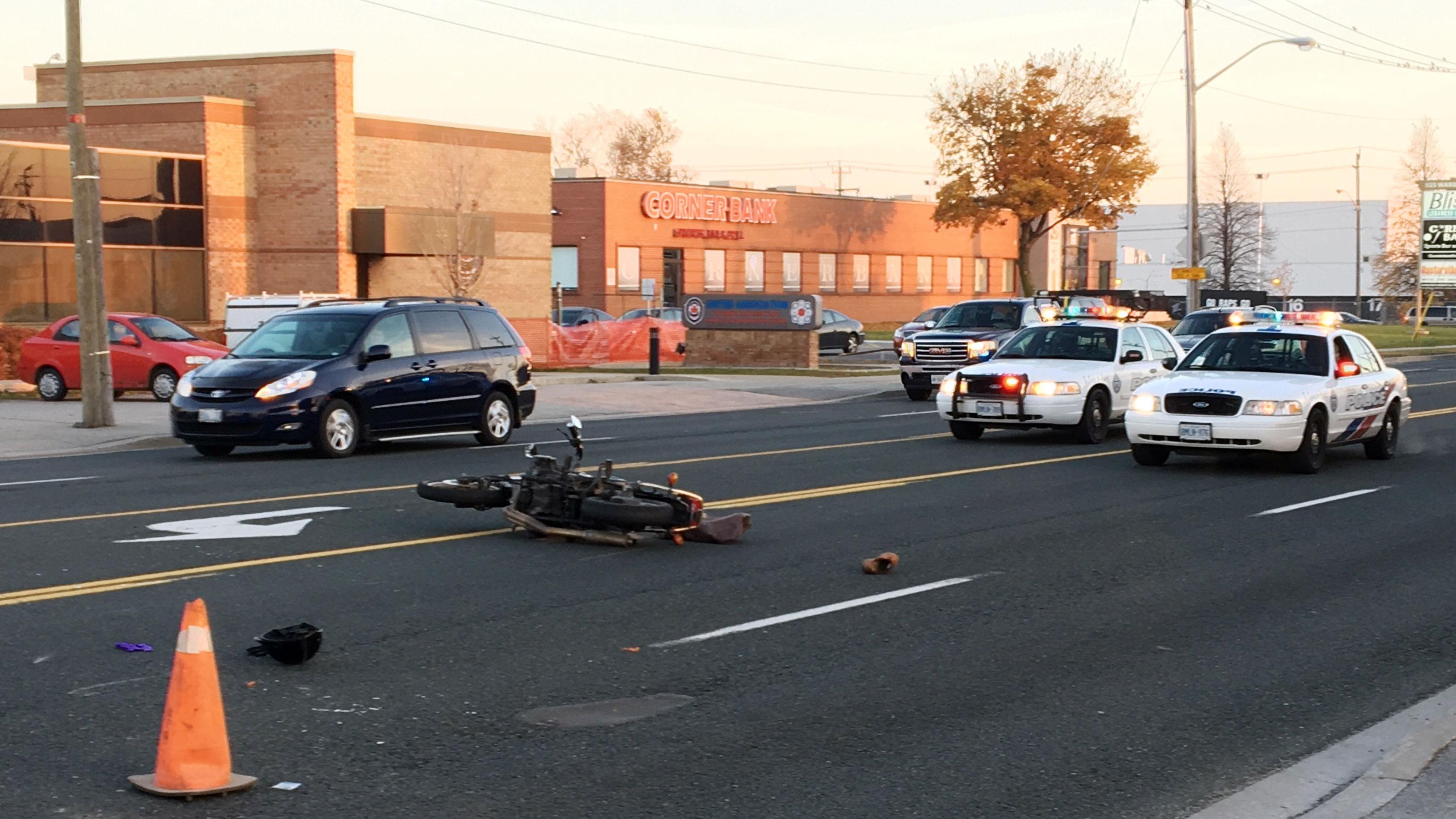 Motorcyclist injured in Scarborough crash