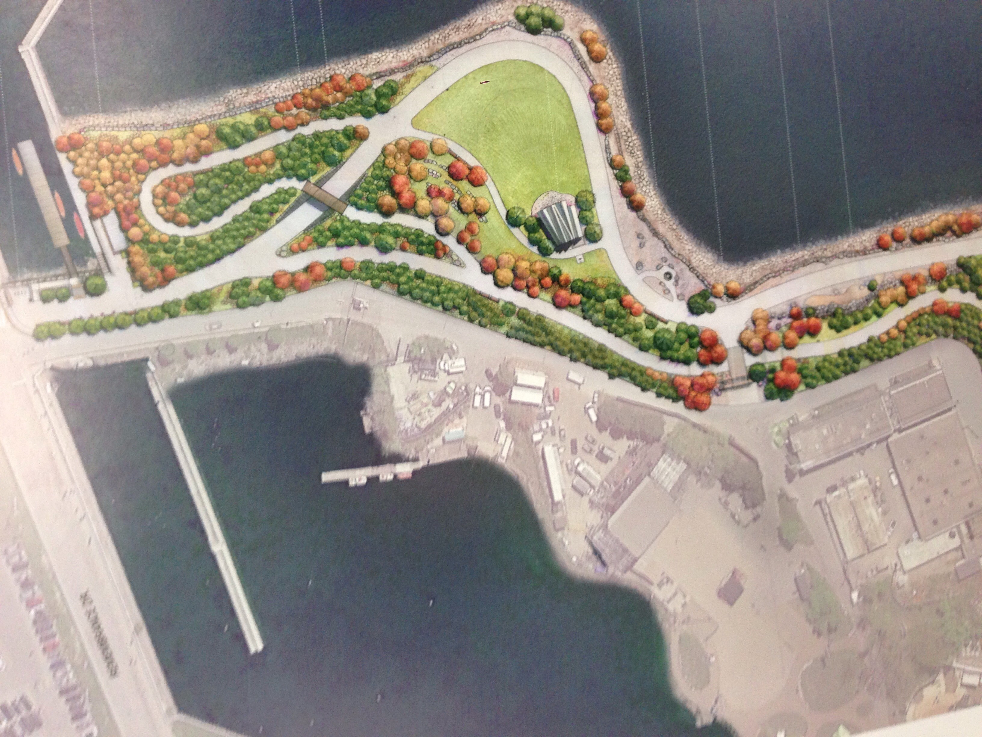 Artist sketch of the Urban Park and William G. Davis Trail at the former Ontario Place location on Nov. 16, 2016. MINISTRY OF TOURISM, CULTURE AND SPORT