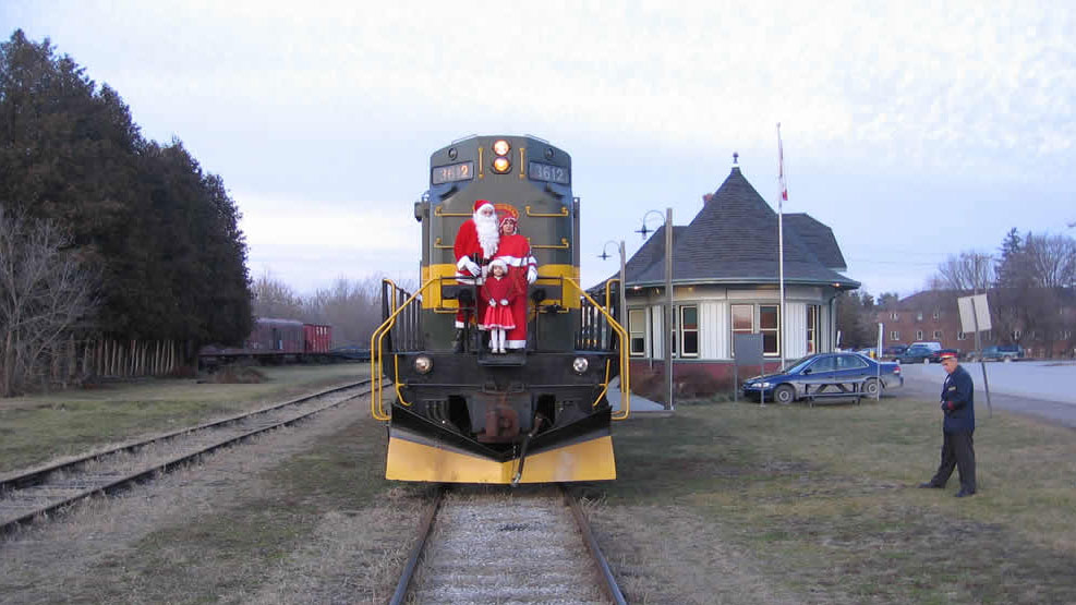York Durham Heritage Railway's Santa Train in Uxbridge. Photo credit: ydhr.ca