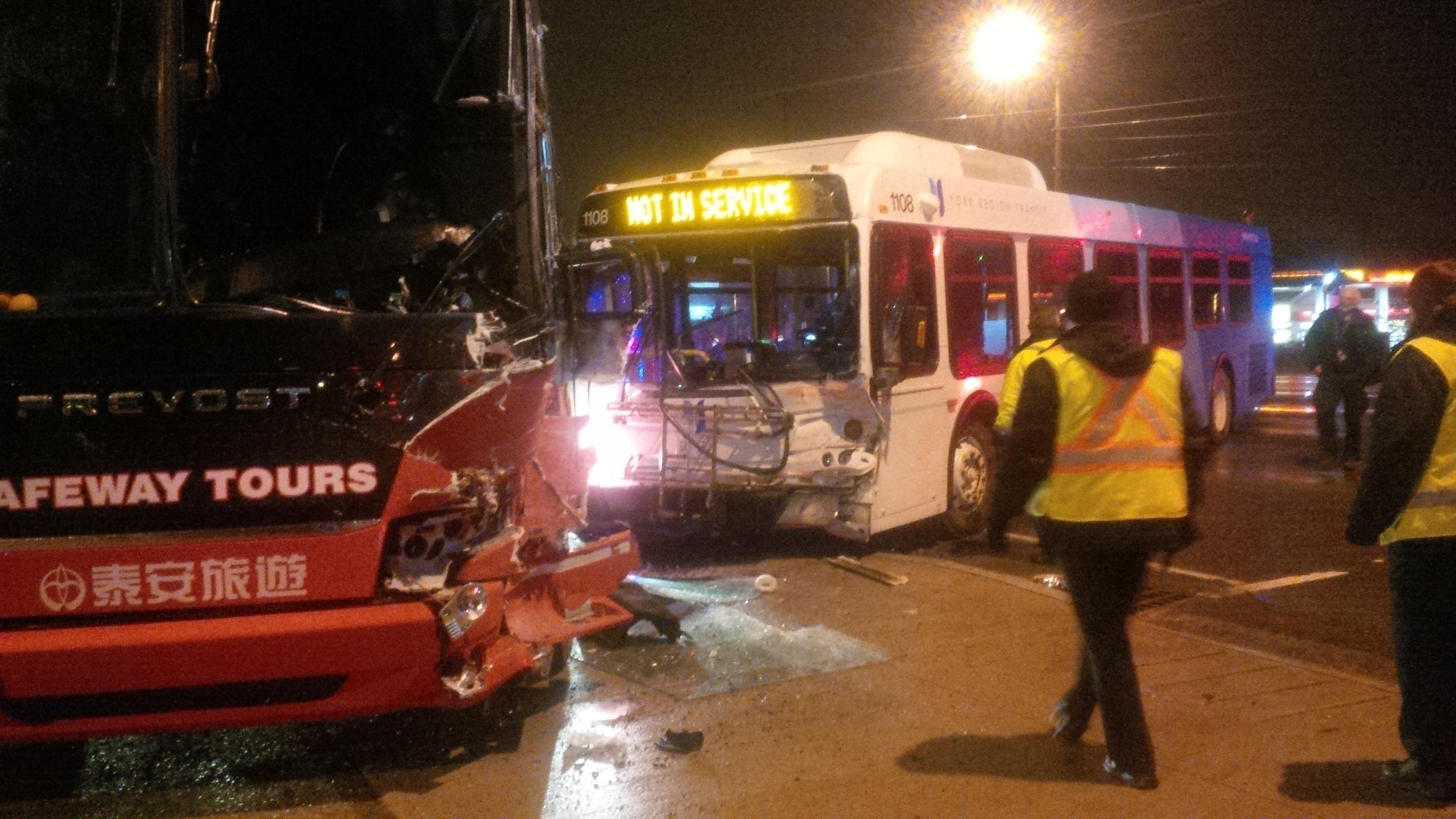A crash at Yonge Street and Highway 7 sent six people to hospital on Nov. 25, 2016. CITYNEWS/Mehrdad Nazarahari