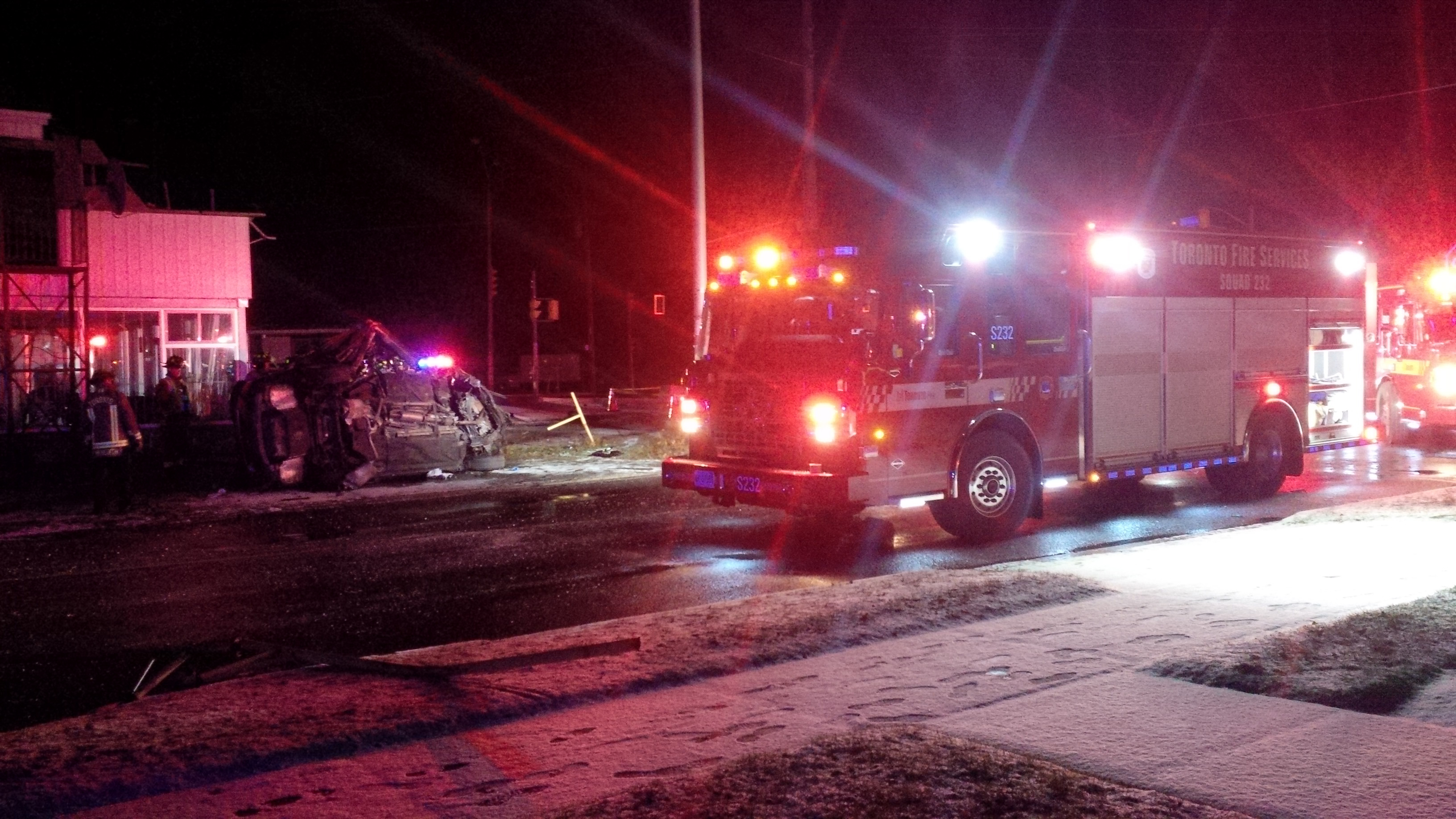 The Driver Is In Hospital After A Single Vehicle Crash On Kingston Road Dec