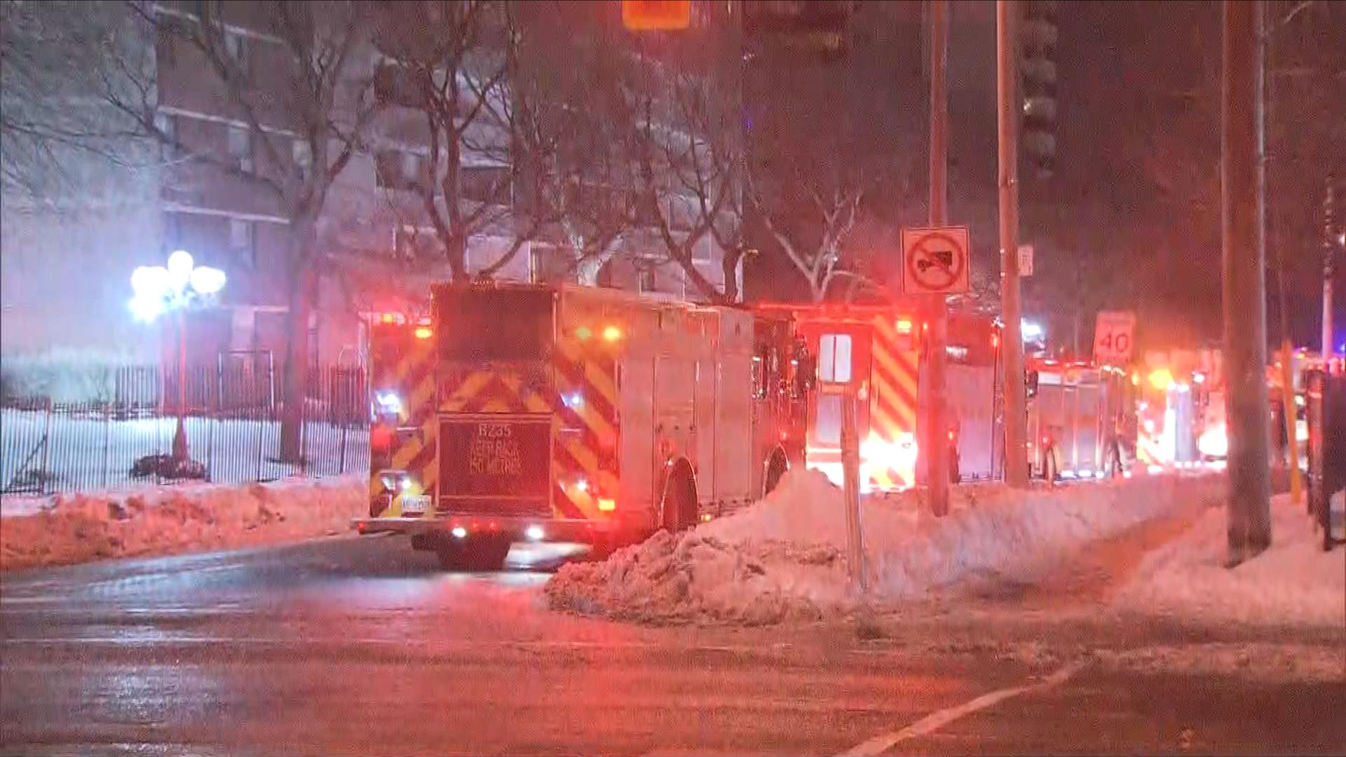 Fire forces east-end residents from their apartment building
