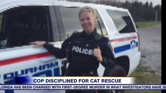 Video: Durham cop faces discipline after removing cat from