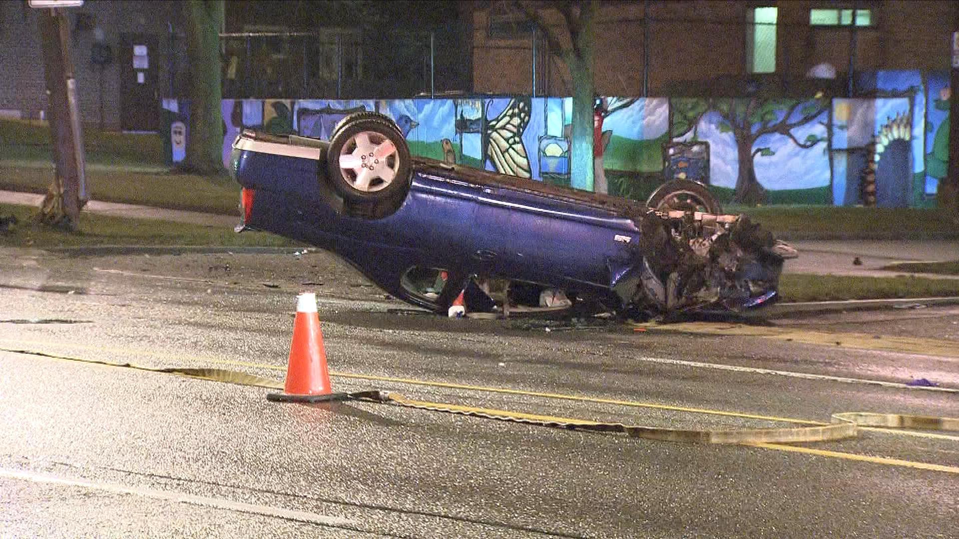 Car Crash Victoria Avenue