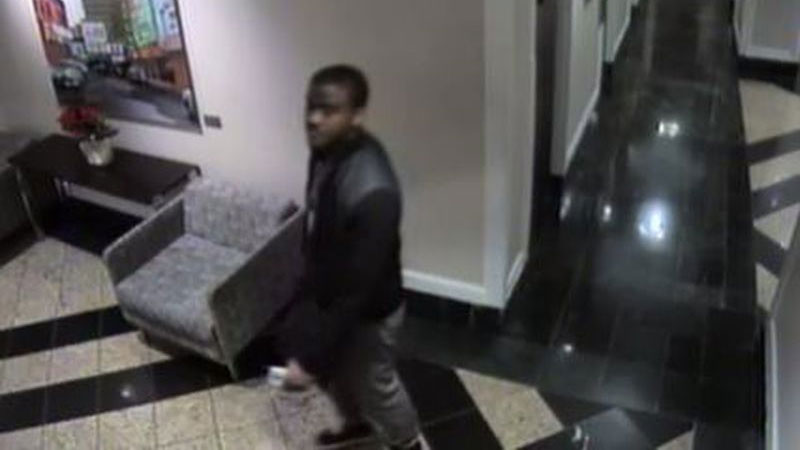 Police say a man threw a kettle at a sex-trade worker and stole her money at a hotel in Yonge and Gerrard streets area on Dec. 8, 2016. HANDOUT/Toronto Police Service